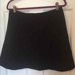 J. Crew Black Swing Skirt